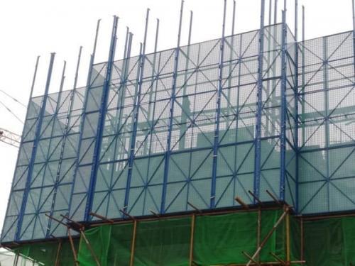 高层建筑爬架网更